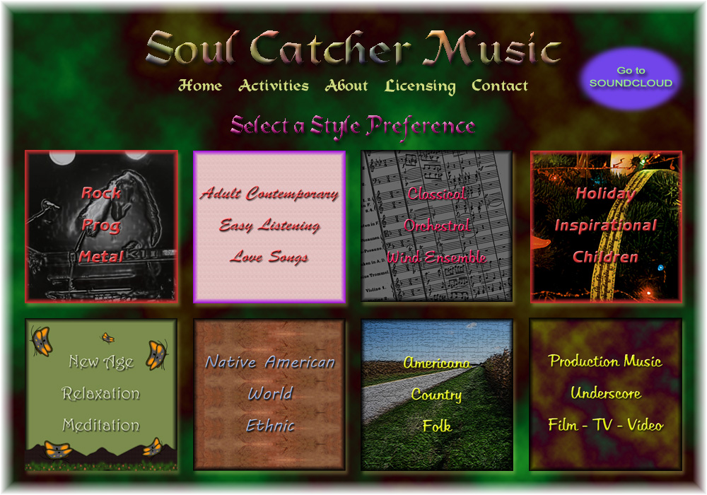 Soul Catcher Music - Listening Preferences